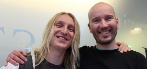 Atte Tahvanainen ja Jarmo Palola ovat uudet tutorohjaajat. Kuva: Dana Mikhlik.