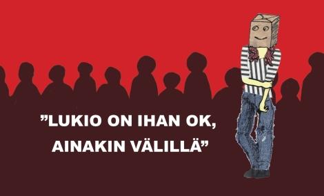 Lue ennakkoon nimettömän ekaluokkalaisen tilitys ensimmäisestä lukiovuodesta! Kuvitus: Julia Saari.