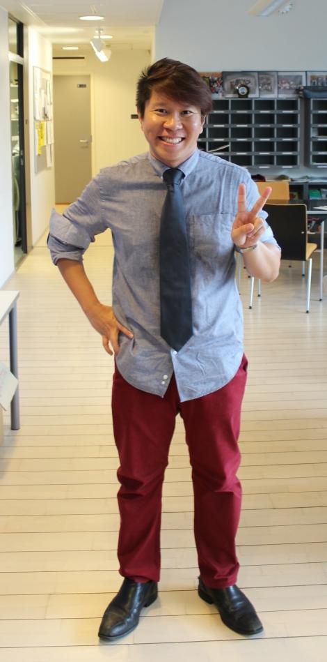 Vierailijaryhmää vetänyt John Yeo on kokenut opettaja ja opettajien kouluttaja: Kuva: Lauri Kuusisto.