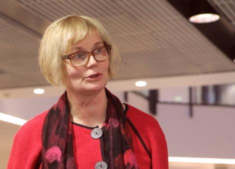 Tuhannet opiskelijat muistavat Maijan innostavana ja kannustavana opettajana. Kuva: Heli Toivonen.