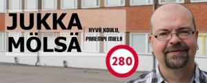 Opettaja Jukka Mölsä on ehdokkaana Uudellamaalla. Kuva: www.jukkamolsa.fi.