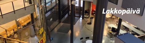 Tilun ala-aulassa on tyhjää - mutta vain oppitunnin aikana. Kuva: Antti Pentikäinen.