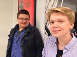 Rasmus Wide ja Heikki Ranta Käyvät ELO3-kurssia. Kuva: Antti Pentikäinen.